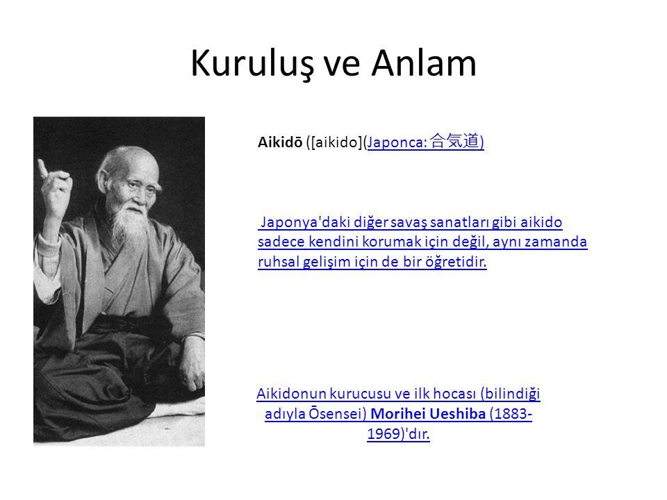 Kuruluş ve Anlam Aikidō ([aikido](Japonca: 合気道)
